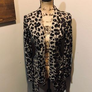 Maurices Leopard Cardigan Size L